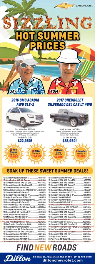 Hot Summer Prices