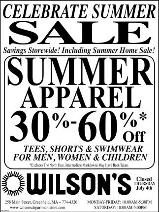 Celebrate Summer Sale