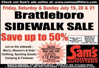 Brattleboro Sidewalk Sale