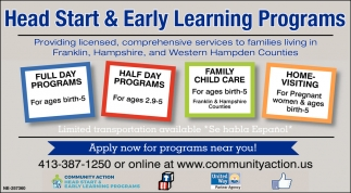 Head Start & Early Learning Programs