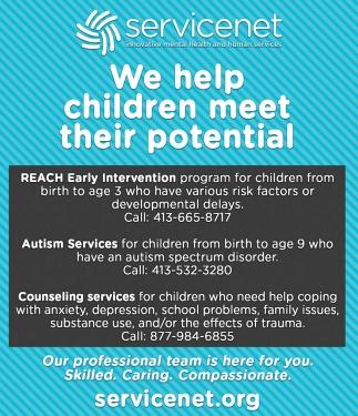 We Help Children Meet their Potential