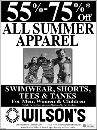 55%-75% OFF All Summer Apparel