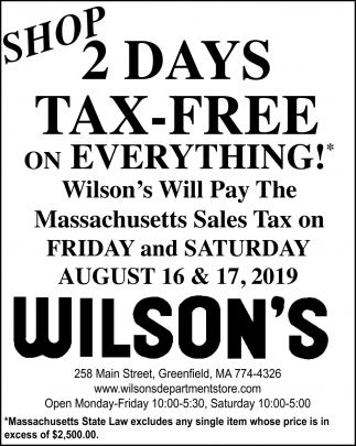 2 Days Tax-Free on Everything