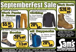 SeptemberFest Sale