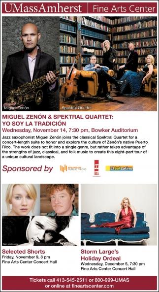 Miguel Zenón & Spektral Quartet