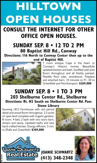 Hilltown Open Houses