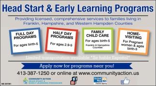Full Day Programs