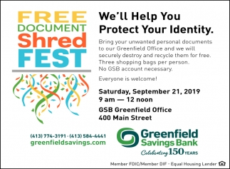 Free Document Shred Fest
