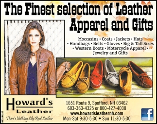 The Finest Selection of Leather Apparel and Gifts