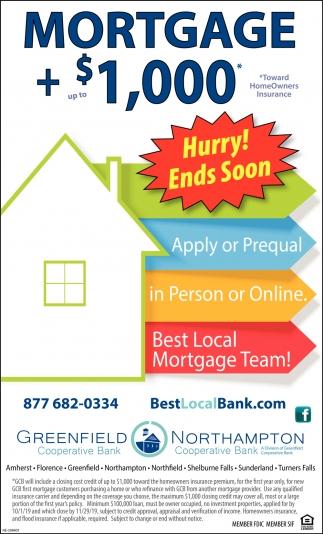 Mortgage + $1,000
