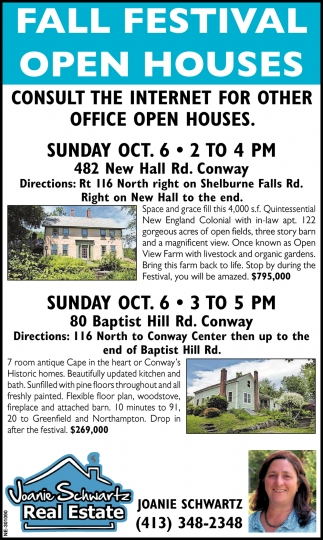 Fall Festival Open Houses