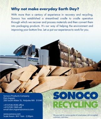 Why not Make Everyday Earth Day, Sonoco Recycling