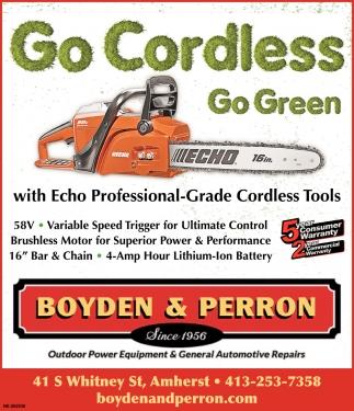 Go Cordless Go Green