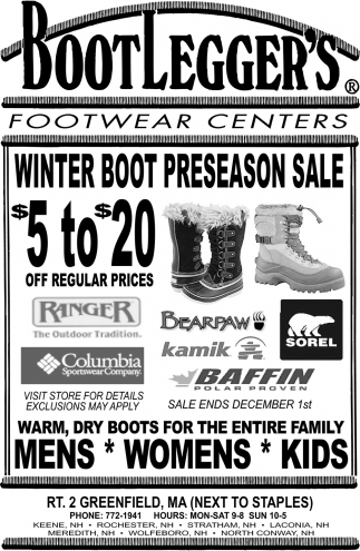 Winter Boot Preseason Sale