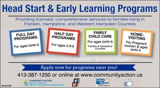 Head Start & Early Learning Programs