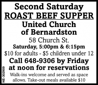 Roast Beef Supper