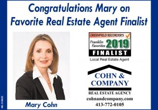 Congratulations Mary
