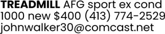 Treadmill AFG Sport EX Cond