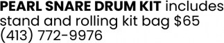 Pearl Snare Drum Kit