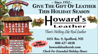 Give the Gift of Leather this Holiday Season