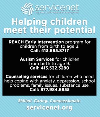 Helping Children Meet their Potential