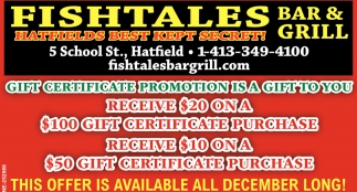 Gift Certificate Promotion is a Gift to You