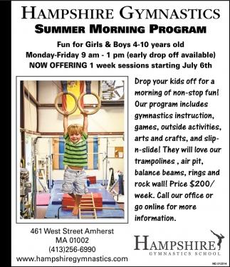Summer Morning Program