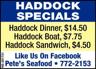 Haddock Specials