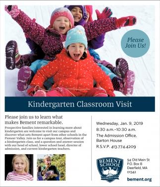 Kindergarten Classroom Visit