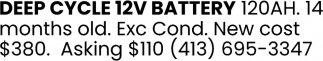 Deep Cycle 12V Battery