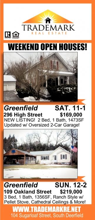 Weekend Open Houses!