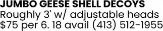 Jumbo Geese Shell Decoys