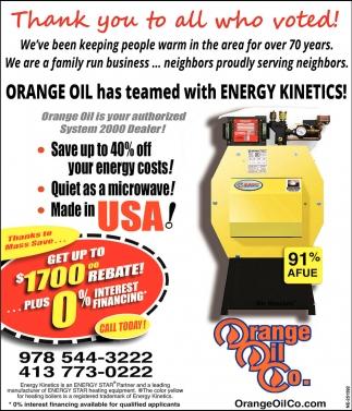 Orange Oil has Teamed with Energy Kinetics