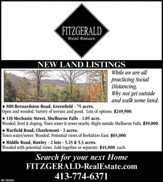 New Land Listings