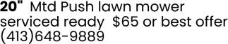 MTD Push Lawn Mower