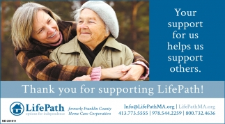 Your Support for Us Help Us Support Others