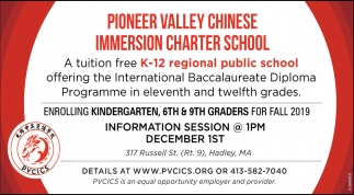 A Tuition Free K-12 Regional Public School