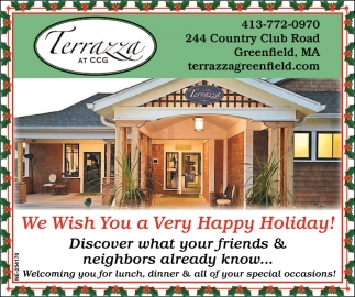 We Wish You A Very Happy Holiday Terrazza At Ccg