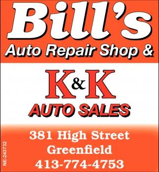 Kk Auto Sales >> Auto Repair Shop Auto Sales Bill S Auto Repair Shop K K Auto Sales