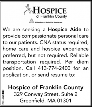 Seeking Hospice Aide