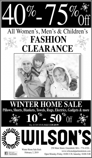All Women's, Men's & Children's Fashion Clearance