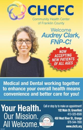Welcome Audrey Clark, FNP-C