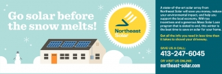 Go Solar Before the Snow Melts