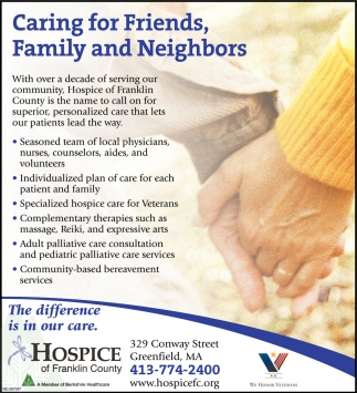 Caring for Friends Family and Neighbors