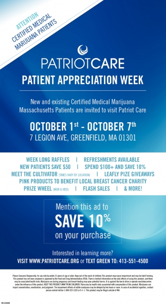 Services Patriotcare Patient Appreciation Week