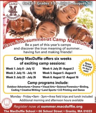 Race Into Summer at Camp MacDuffie