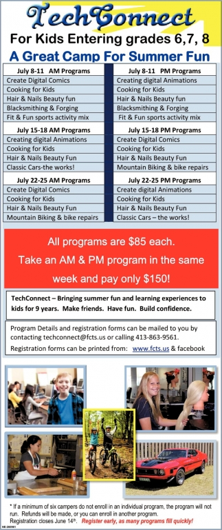 Tech Connect for Kids Entering Grades 6,7,8
