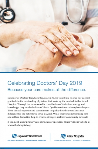 Celebrating Doctor's Day 2019