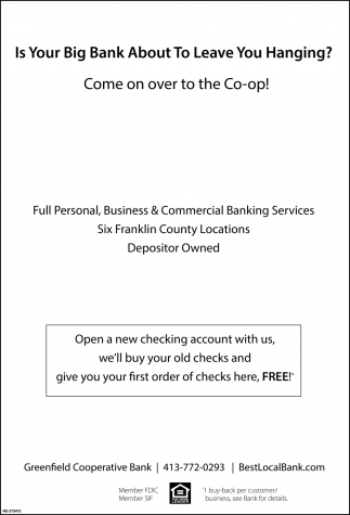 Open a New Checking Account with Us