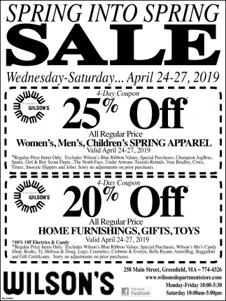 Spring Into Spring Sale